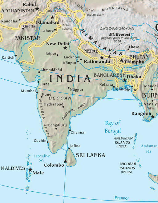Ganges River India Map : ganges, river, india, India's, Geography, Early, Civilizations, CK-12, Foundation