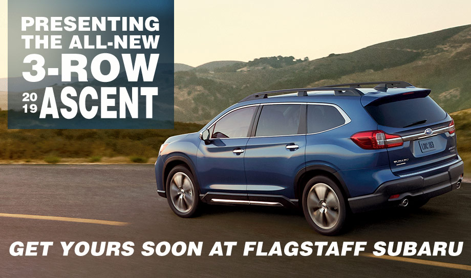 suv with 3 rows and captains chairs seat covers for table the 2019 subaru ascent on sale soon flagstaff az biggest ever boasts three of seats including available captain