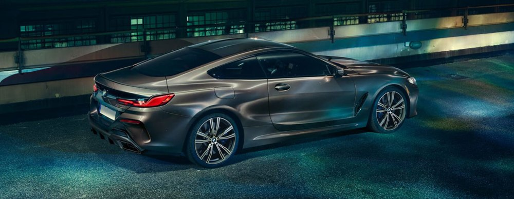 medium resolution of 2019 bmw m850i exterior parked in the night