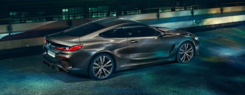 small resolution of 2019 bmw m850i exterior parked in the night