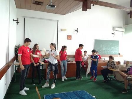 Organizacija Crvenog krsta Prijestonice Cetinje obilježila je danas Svjetski dan prve pomoći