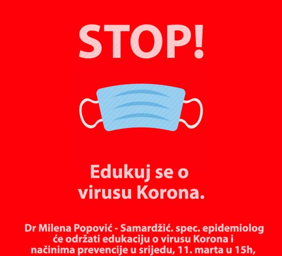 Najava: Predavanje o Virusu Korona – Covid 19