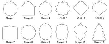 custom ornament shapes christina