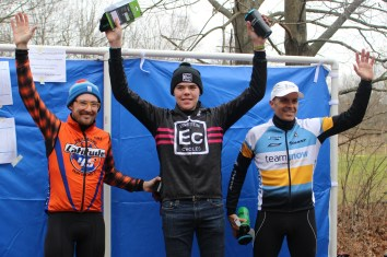 The top racers in each category won free coffee mugs and socks as prizes at the La Frost Cross race on Saturday, Dec. 3, 2016 in Mount Pleasant, MI.