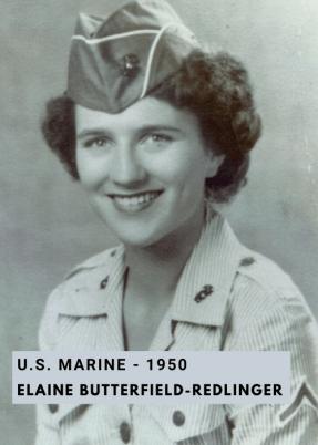 US Marine Elaine Redlinger