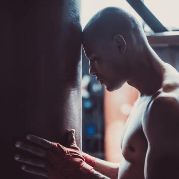 Facing adversity boxer