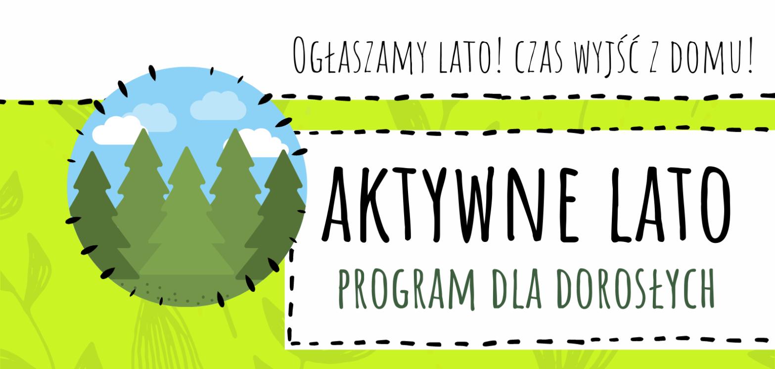 Aktywne lato - banner programu dla dorosłych