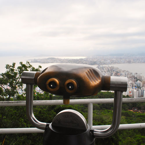 Visita ao Mirante do Morro da Cruz em Florianópolis