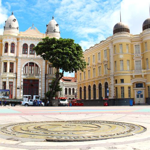 Lugares pra conhecer na Praça do Marco Zero no Recife Antigo