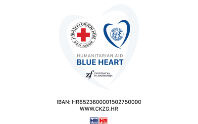 "Let's show togetherness and solidarity – Zagreb's ""BLUE HEART""!"