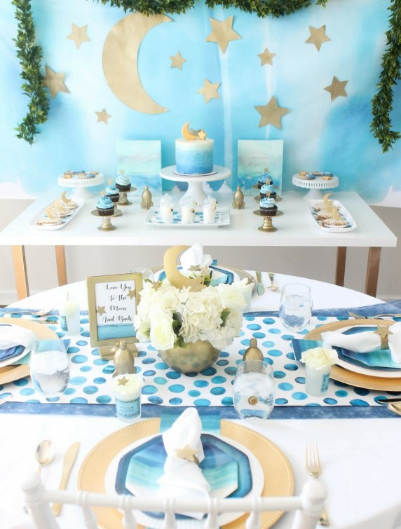 Boys baby shower theme - To the Moon and Back