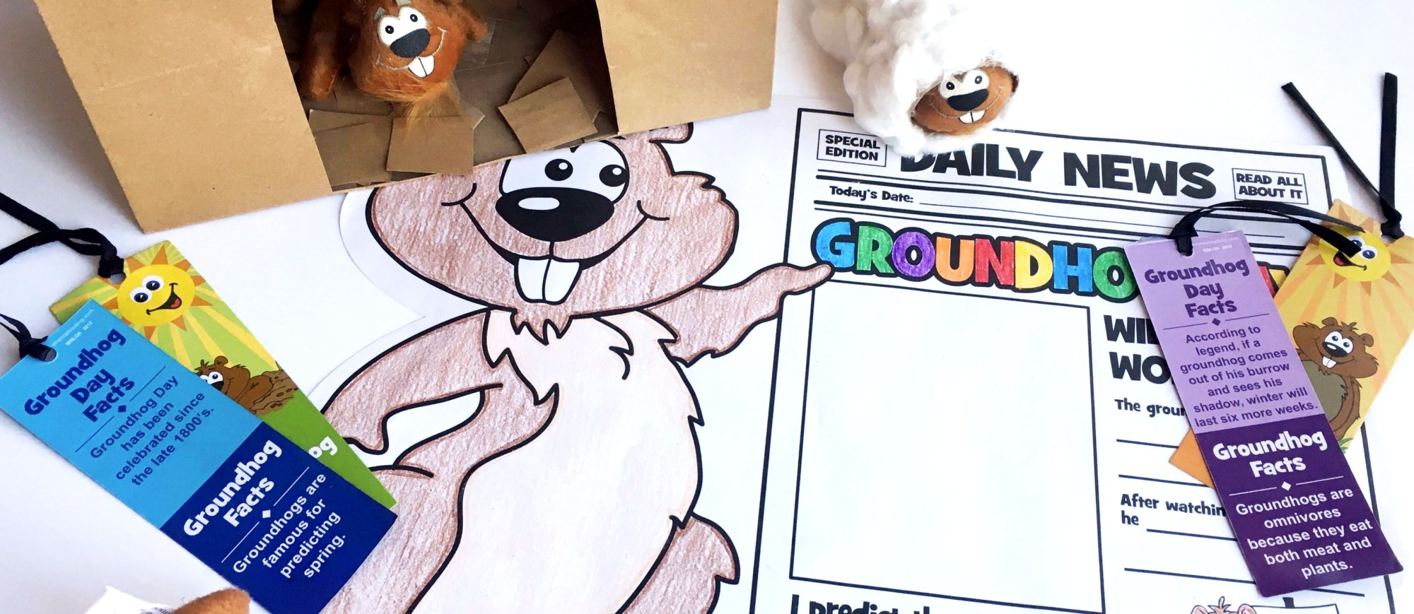hight resolution of Groundhog Day Crafts for the Classroom   Fun365