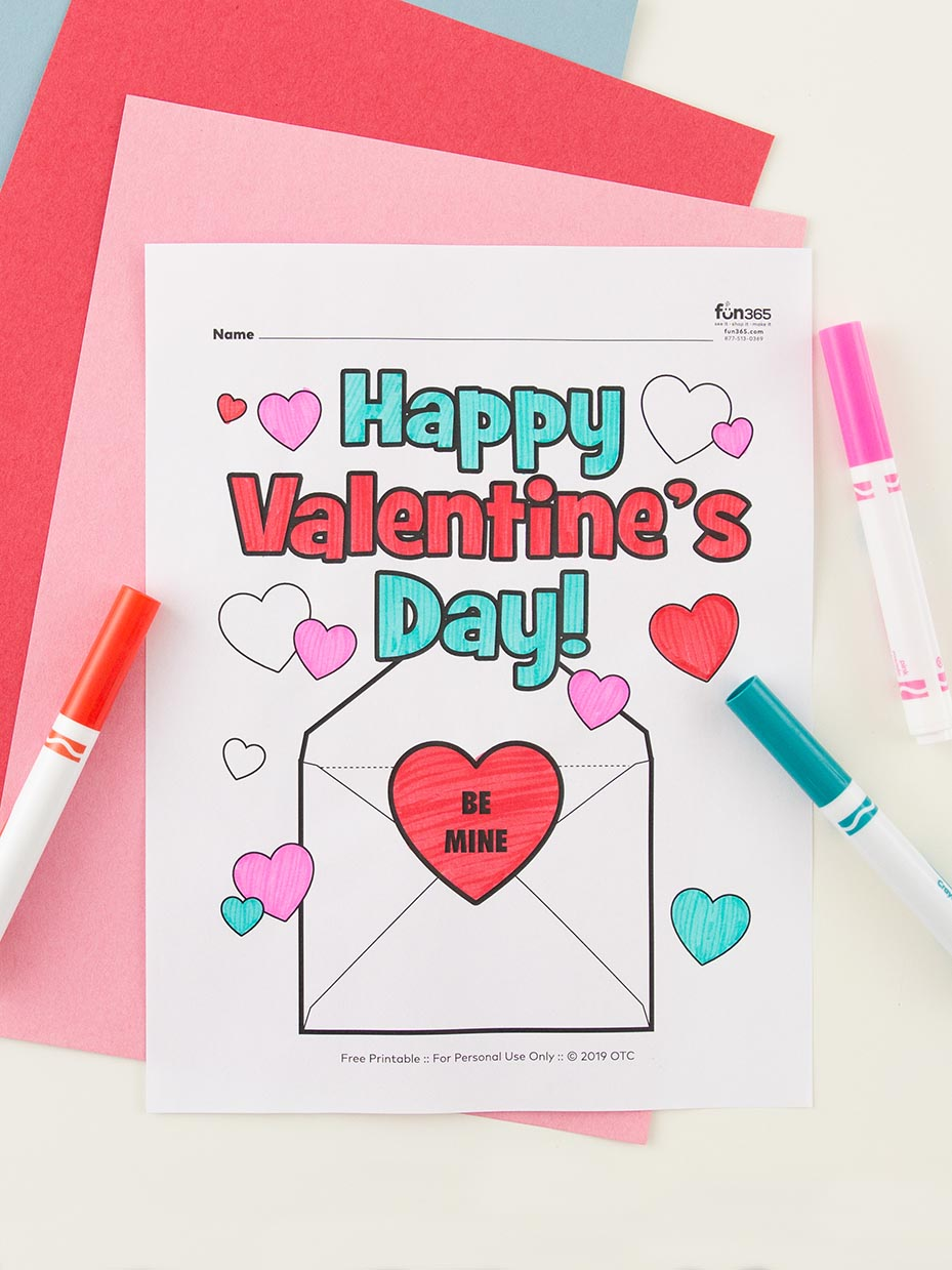 Free Valentine S Day Coloring Pages Fun365