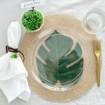 Diy Leafy Burlap Place Setting Fun365