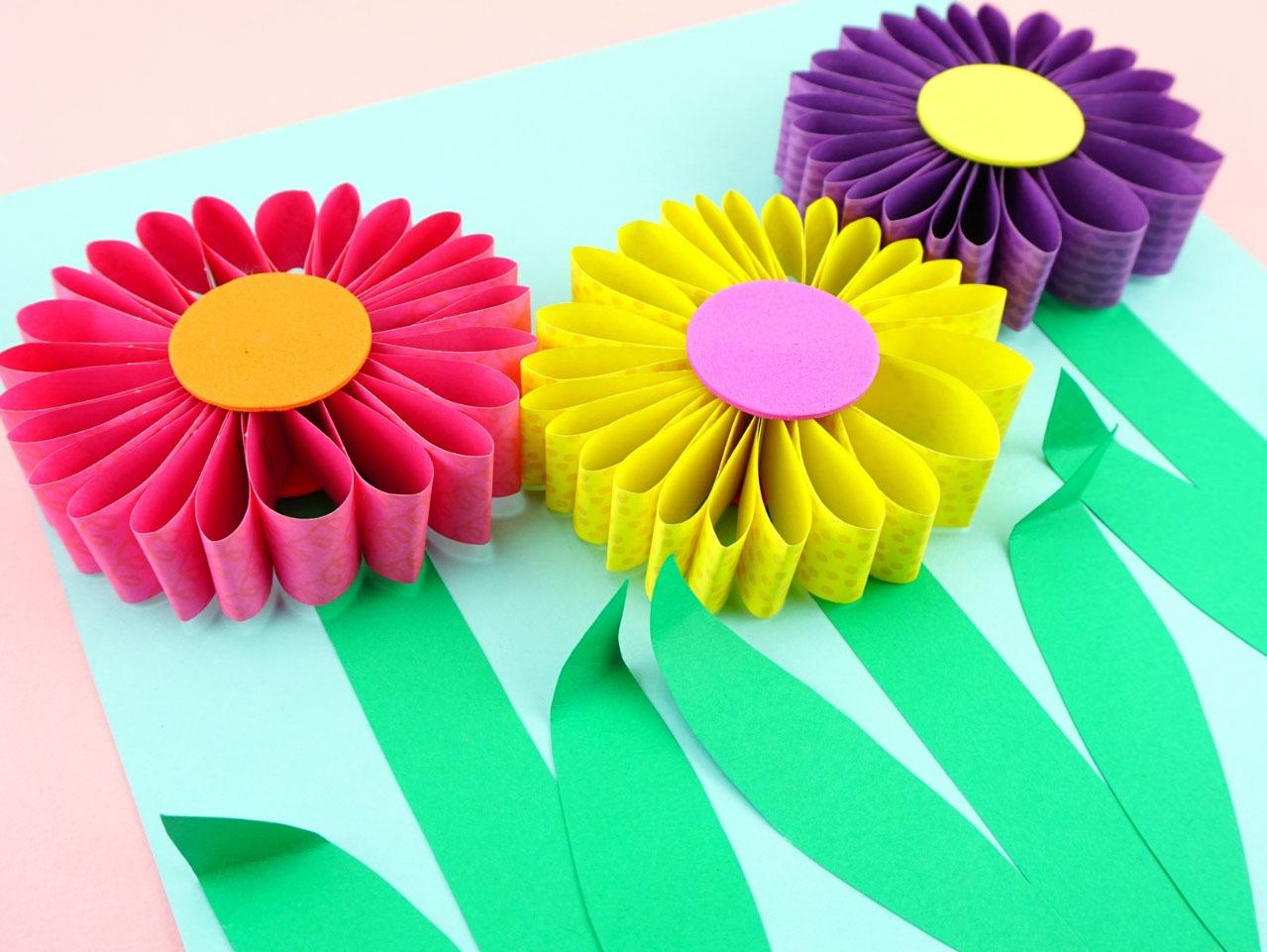 3d Paper Flowers Craft Fun365