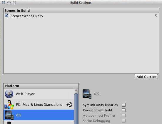 Add Unity3D in a native iOS application