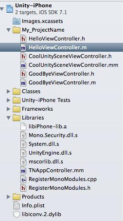 Add Unity3D in a native iOS application