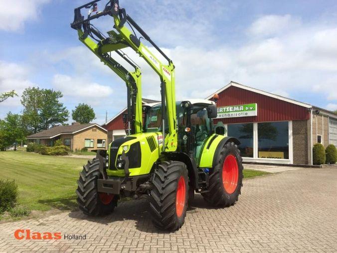 CLAAS ARION 430 CIS met FL 100 CP voorlader door, Landbouwmechanisatiebedrijf Geertsema B.V.