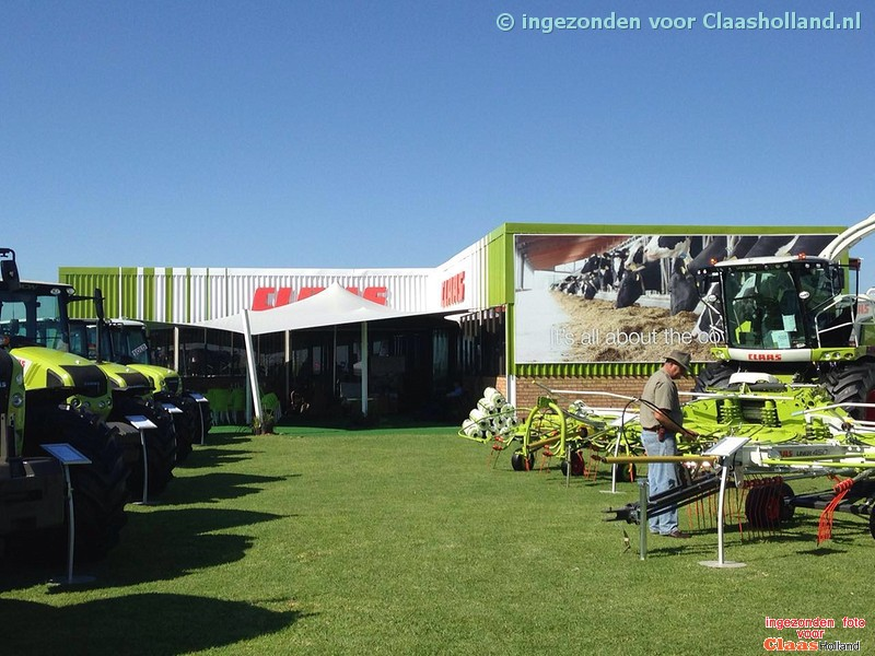 Claas op Nampo in zuid afrika, Claas on Nampo in South Africa.