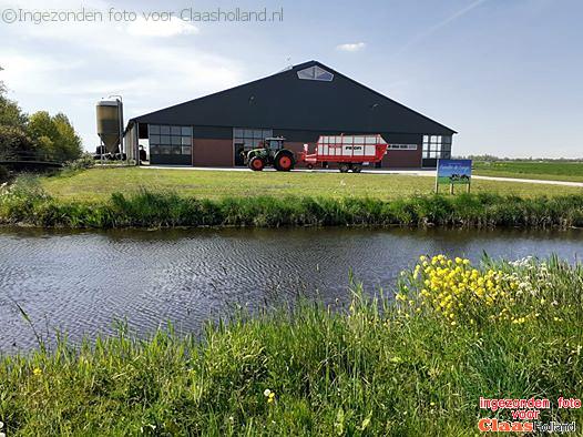 Grasoogst in Vinkeveen.