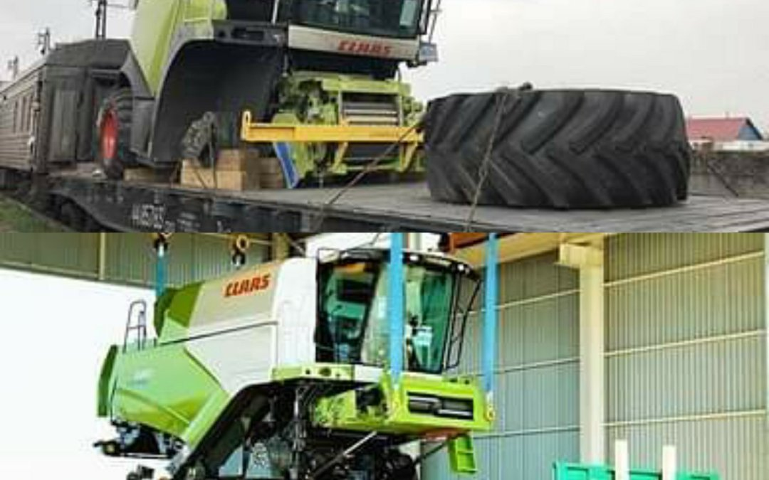Claas transport on the railway part 2.