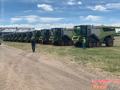 12 Lexion's 7400 in Bayers,Colorado, USA.
