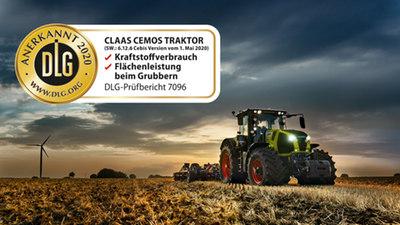 Verhoogde efficiëntie door CEMOS voor tractoren nu door DLG erkend.