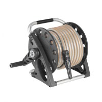 Metal Gemini Garden Hose Reel with 230-Foot 5/8-Inch Hose ...