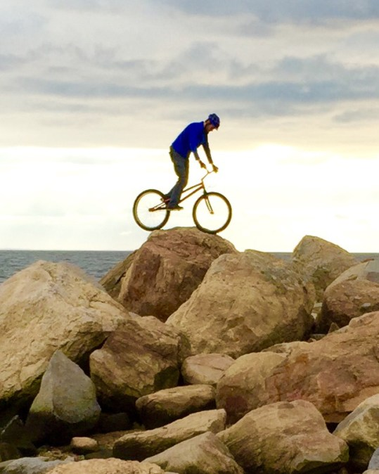 Cyclist-on-Boulders