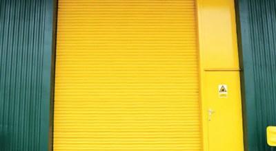 Factory door painting