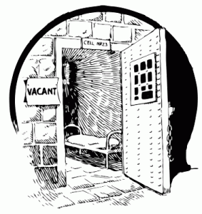 clipart image of an empty jail cell