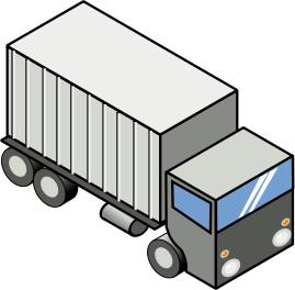 semi truck clipart image