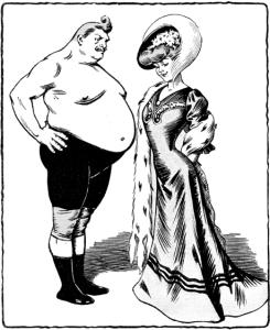 profile comparison of a fat person and a thin person