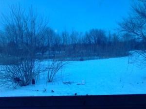 winter scene at the Wittekind homestead