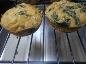 close-up of muffins on a cooling rack