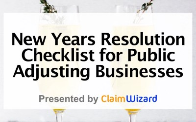New Year's Resolution Checklist for Public Adjusting Businesses