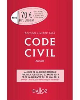 Code civil 2020, annot? –