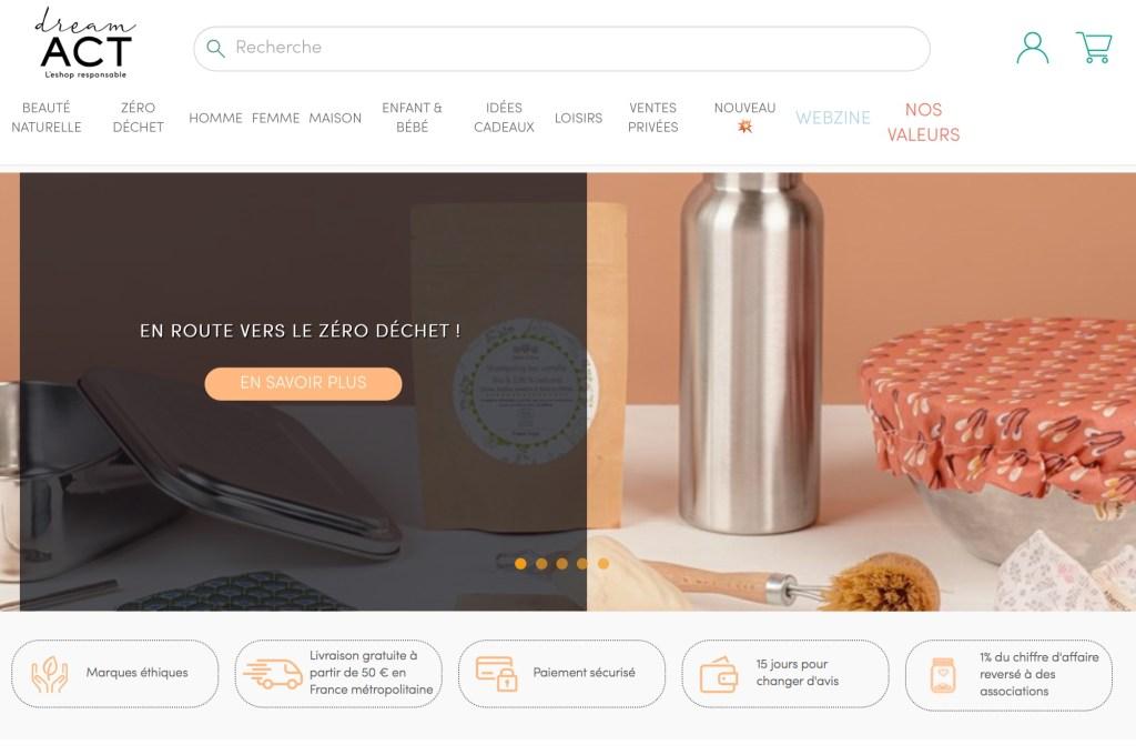 Dream Act, e-boutique de consommation responsable