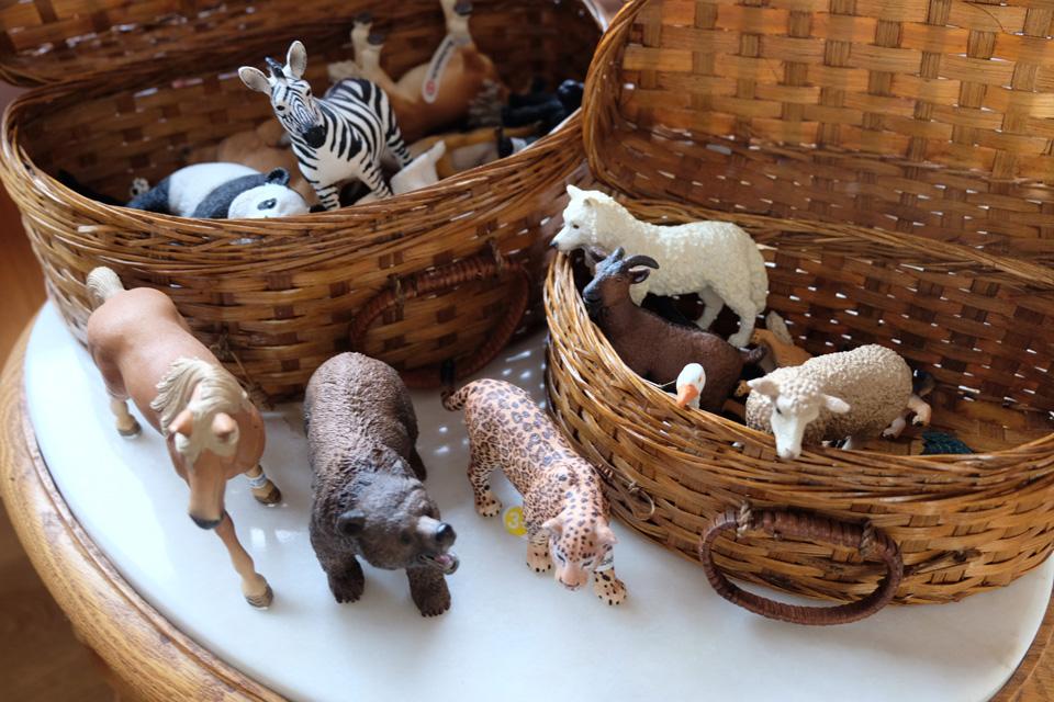 Figurines d'animaux achetées en seconde main