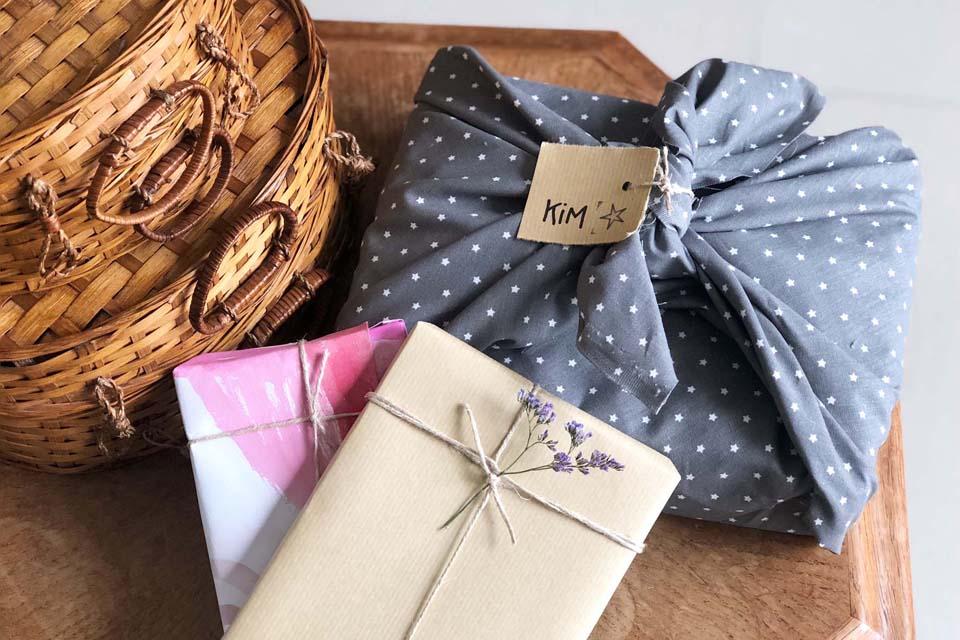 Il existe plein d'alternatives aux emballages cadeaux jetables