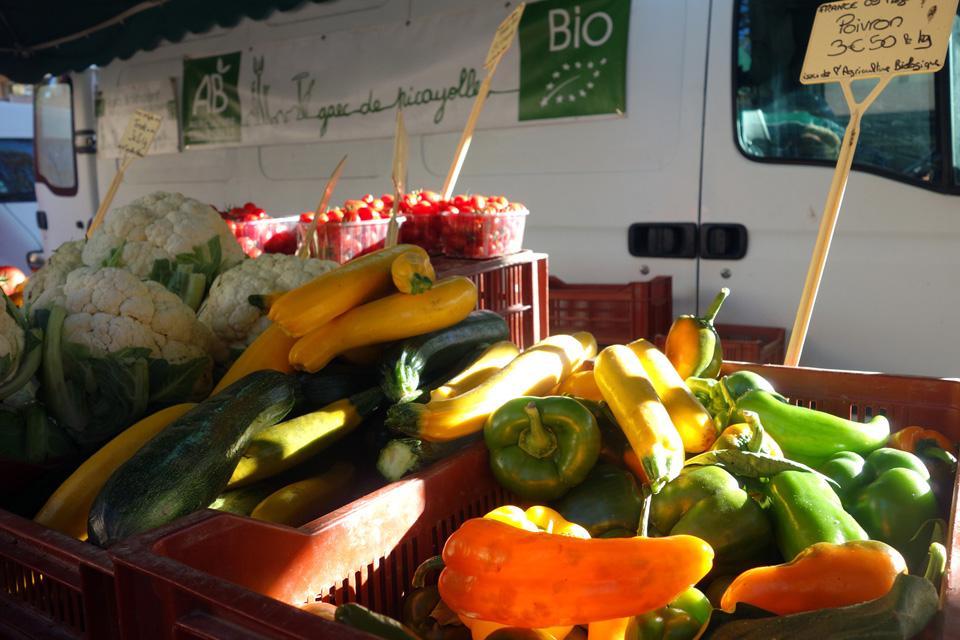Les légumes bio, locaux en vrac