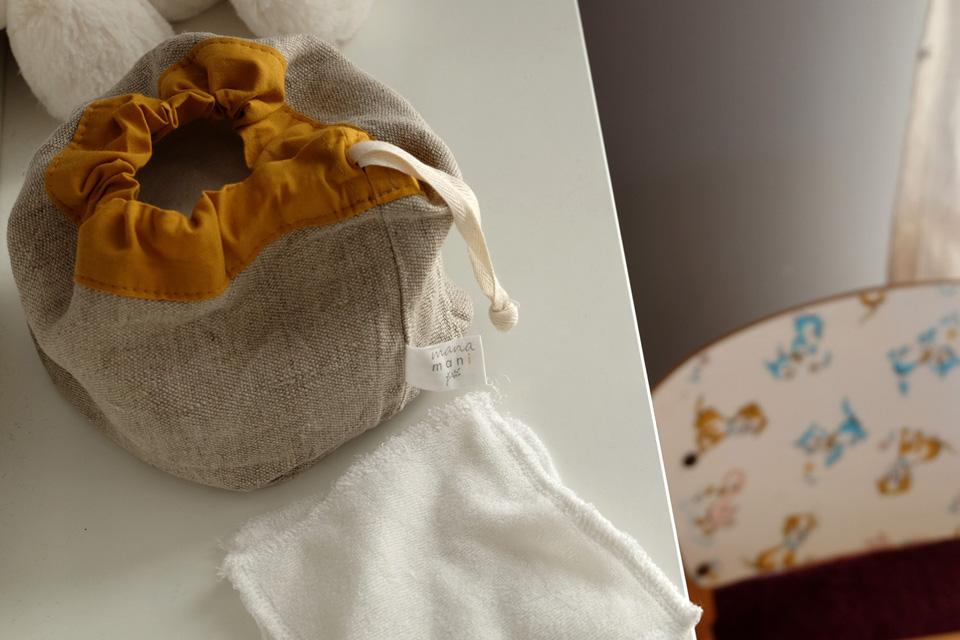 Les lingettes lavables zéro déchet Manamani