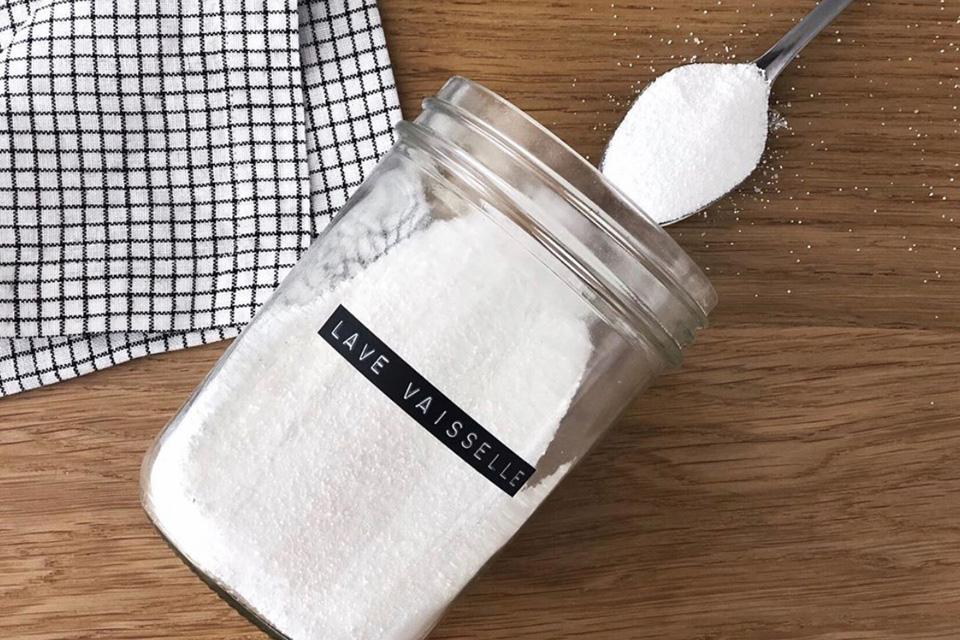 Produit lave-vaisselle maison version poudre
