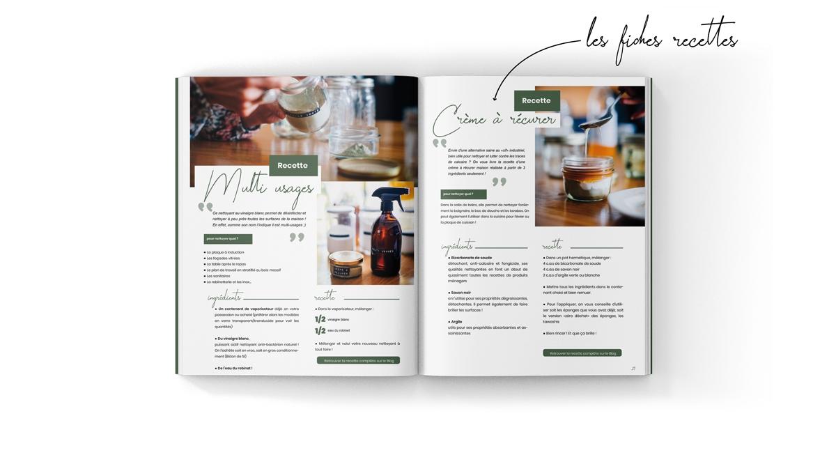 E-book zéro déchet incluant des recettes détaillées