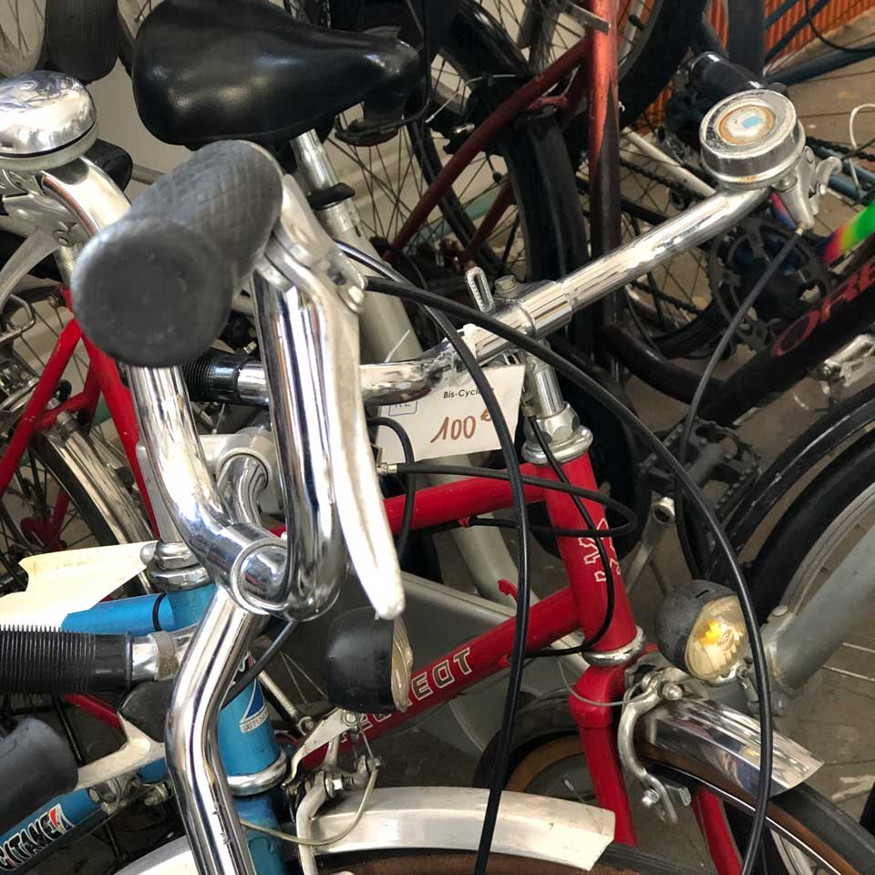 La bis-cyclette, vélo d'occasion remis en état
