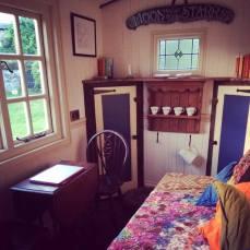 Inside my writing hut.