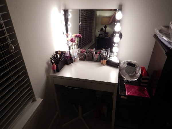 IKEA Makeup Vanity Hollywood Mirror with Lights