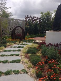 garden pathway and arch
