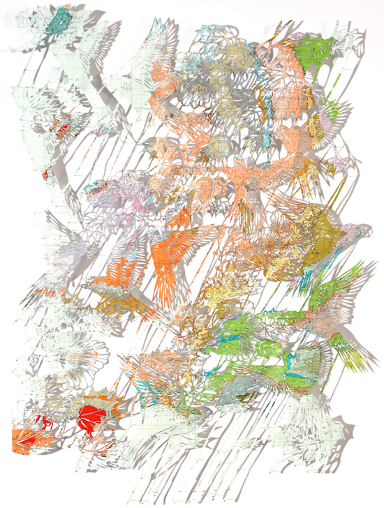 clairebrewster_lovebirds_papercut_map_geological