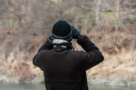 My partner dutifully scanning the Thames River for any ducks. I was lucky to also have my mother along for the morning.